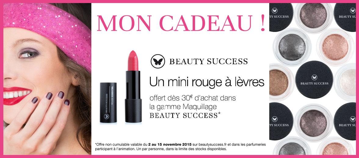 Votre mini rouge à lèvres Beauty Success offert ! ‹ Beauty